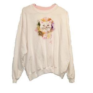 TOP STITCH vintage cat sweatshirt